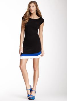 Asymmetrical Stripe Hem Dress ~ simple detailing in the hem makes this dress, easy for all of us that sew!