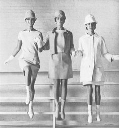 1960's fashion. mini skirts and dresses with go go boots, really cute, once again loved the hats, but sitting and bending like a lady took practice.