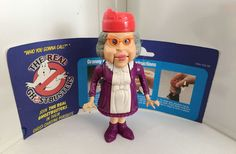 1988 GRANNY GROSS w/INSERT • HAUNTED HUMANS • VINTAGE THE REAL GHOSTBUSTERS #Kenner