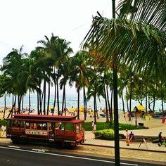 Waikiki Beach.         Lived here