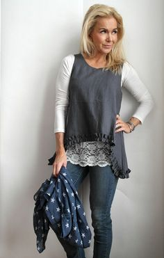 Linen Top, GREY - Linen Top - By Pia's Design