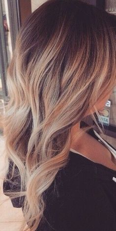 I really like brown hair with blonde highlights. Its so pretty