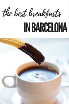 Start your day off right in Barcelona!