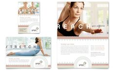 Pilates & Yoga Flyer & Ad Template Design