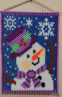 Pony Bead Patterns, Peyote Patterns, Beading Patterns, Pony Bead Crafts, Beaded Crafts, Beading Tools, Loom Beading, Beaded Christmas Ornaments, Diy Ornaments