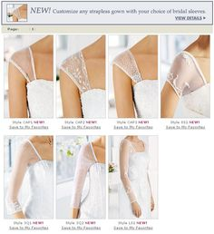 how do you sew modesty sleeves or straps on a prom dress? - Google Search