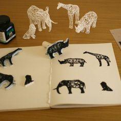 Digital Safari Stamps #3Dprint #3Dprinting [more pics on Cults website]