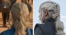 This Theory About Daenerys Targaryen's Braids Is Going to Blow Your Mind French Twist Updo, Loose French Braids, Ponytail Updo, Twist Ponytail, Khaleesi Hair, Daenerys, Romantic Hairstyles, Twist Hairstyles, Easy Braided Updo