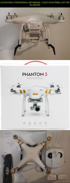 DJI Phantom 3 Professional Refurbished  2 Built-in Batteries Last for 30 Minutes #racing #plans #camera #tech #gadgets #shopping #kit #phantom #professional #3 #products #dji #fpv #refurbished #drone #technology #parts