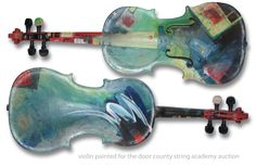 The Art of Music - Tim recently completed a painted violin to be auctioned for the Door County String Academy. The art on the violin was created to ...