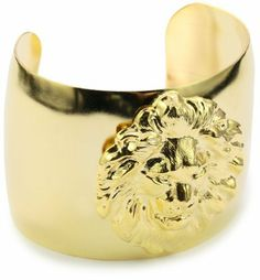 """Privileged NYC Lion Gold plated Cuff 2"""" Privileged NYC. $70.00"""