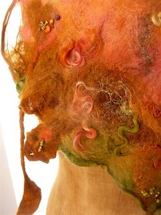Beautiful, love the texture and the colors! Nuno felt scarf 'Autumn Walk' | Flickr - Photo Sharing!