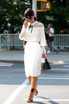 White maxi dress lookbooker