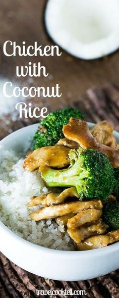 Chicken with Broccoli and Coconut Rice | Travel Cook Tell