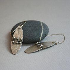Kinetic Earrings in Silver by metalchick on Etsy