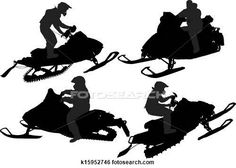 Clip Art of Snowmobiling Silhouette k15952746 - Search Clipart, Illustration Posters, Drawings, and EPS Vector Graphics Images - k15952746.eps