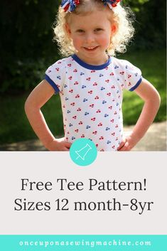 This is my go to free sewing pattern. My girls love these tees to pair with everything. The tutorial is easy enough for beginners. Download the pattern and you'll make a drawer full- trust me.