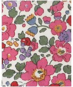 LIBERTY ART FABRICS  BETSY J TANA LAWN, LIBERTY ART FABRICS. Originally designed in 1933, the Betsy print is taken from the Liberty archives. Like Wiltshire, it was created in-house and initialled 'DS' by the original, in-house designer.