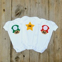 Mario Baby Clothes / Mushroom Onesies / by TheWishingElephant, $42.00