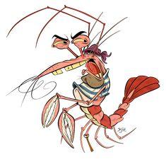 Pirate Shrimp by Themrock.deviantart.com on @deviantART