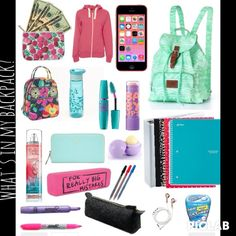 What's in my backpack?  on polyvore!