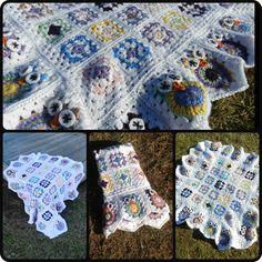 """Crochet - Baby Owl Blanket (34"""" squared) - $50"""