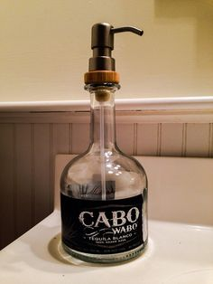Soap Dispenser Cabo Wabo Tequila Bottle on Etsy, $19.95