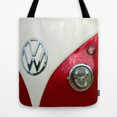 VW T2 Split Screen Tote Bag by Alice Gosling - $22.00