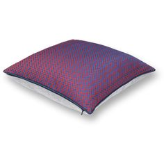 Hermès Chevron Pillow in Cassis Purple ($740) ❤ liked on Polyvore featuring home, home decor, throw pillows, chevron home decor, purple toss pillows, purple home decor, purple home accessories and purple throw pillows