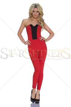 Smart Option Red Jumpsuit