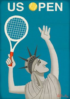 Tennis - US Open 2014 is underway! Tennis Poster by Paul Thurlby Tennis Tips, Sport Tennis, Play Tennis, Tennis Open, Tennis Serve, Tennis Tournaments, Tennis Clubs, Tennis Posters, Sports Posters