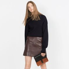 8e2b383ae4 Depop - The creative community's mobile marketplace. Brown Leather SkirtLeather  ...