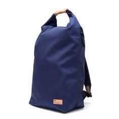 Buddy Ear Fold Top Backpack  Navy Rolltop side zip