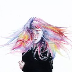 Agnes Cecile is the self taught artist behind this wonderful collection of watercolor portrait paintings. As well as watercolor she also uses acrylic, pen, ink and some Watercolor Portrait Painting, Painting & Drawing, Watercolor Art, Watercolour Hair, Portrait Paintings, Agnes Cecile, Drawn Art, Poster Art, Love Art