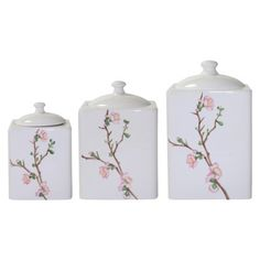 Corelle Cherry Blossom Canister Set - Assorted