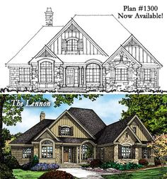 Great plan! - The Lennon House Plan - Plan# W-1300. 4 bedrooms, 3 baths, 2324 square feet. http://www.dongardner.com/plan_details.aspx?pid=4411