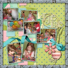Digital Scrapbook Layout Easter