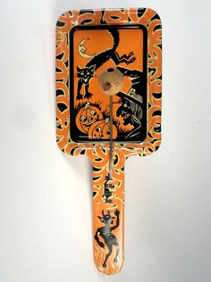 "Vintage ""Life of the Party"" Tin Halloween Pan/Paddle Noisemaker - Kirchhof"