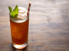 Iced tea gets a boost from raspberry syrup and light and dark rum. Attention! This drink is more treacherous than it looks!