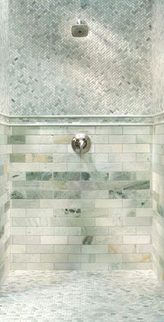 Caribbean Green Marble Tile - 3in. x 9in. - 100051655 | Floor and Decor