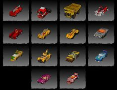 Carmageddon's Vehicle Paper Model Collection Free Templates Download - http://www.papercraftsquare.com/carmageddons-vehicle-paper-model-collection-free-templates-download.html#VehiclePaperModel