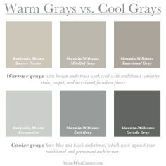 3 color exterior paint schemes dark gray and white Grey Exterior, Exterior House Colors, Exterior Paint, Bedroom Colour Schemes Warm, Interior Paint Colors For Living Room, Warm Paint Colors, Paint Colors For Home, Warm Grey Walls, Warm Grey Paint
