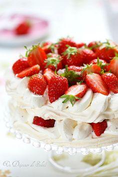Pavlova aux fraises Plus