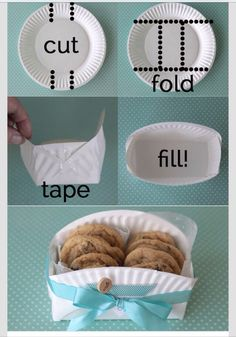 Easy Cookie Basket From A Paper Plate