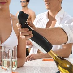 Love it!! Automatic Wine Opener with Foil Cutter