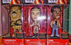 Vinyl Bobble-head #Chewbacca, #Rey, #Finn The Force Awakens