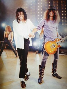 Michael Jackson and Slash