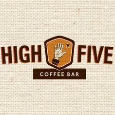 New High Five Coffee Bar Logo