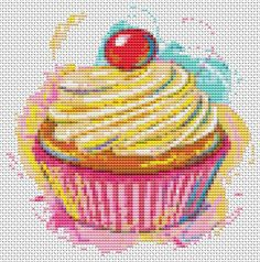 My 5 yr old daughter is HUGE into anything cupcakes right now. She would love this hanging in her room.