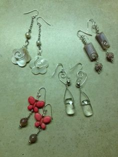 Wire wrapped earrings for sale at The Northwood Gallery in Midland, Michigan